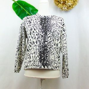 Zara black and white animal print sweatshirt